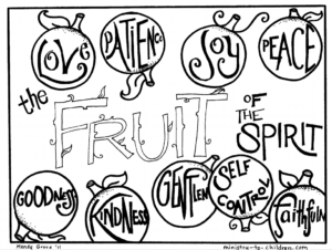 coloring pages fruit of the spirit - Fruit Of The Spirit Coloring Pages